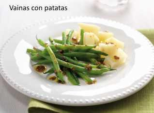 Plato de vainas con patatas