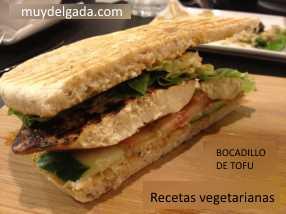 Bocadillo de tofu ahumado - Recetas vegetarianas