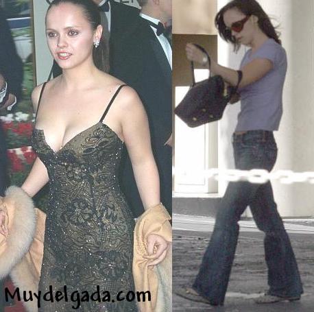 Muy delgada .com | Christina Ricci delgada o anoréxica